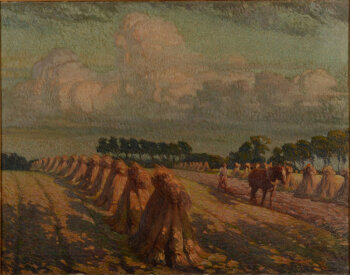 Maurice Sijs an unsigned large landscape