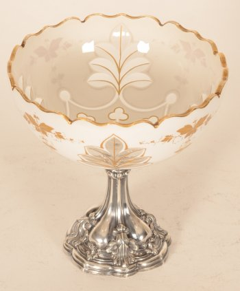 Austrian-Hungarian silver and opaline glass cup