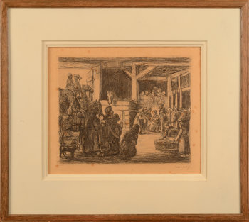 Jakob Smits Adoration of the Magi etching