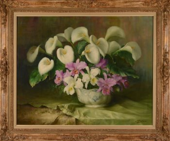 Julien Stappers still life with arums