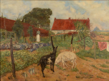Edouard Thiébaut the vegetable garden