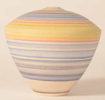 Bernard Thiran striped vase