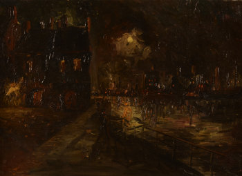 Unknown arist City harbour by Night