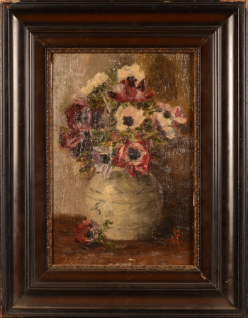 Unknown (Dutch?) artist flowers in a Chinese ginger jar