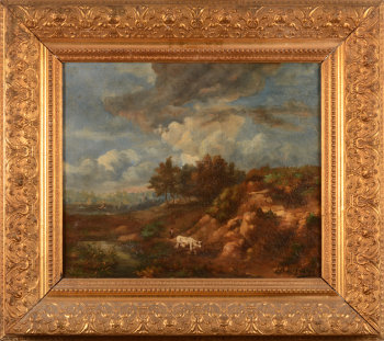 Unknown Artist landscape with shepherd