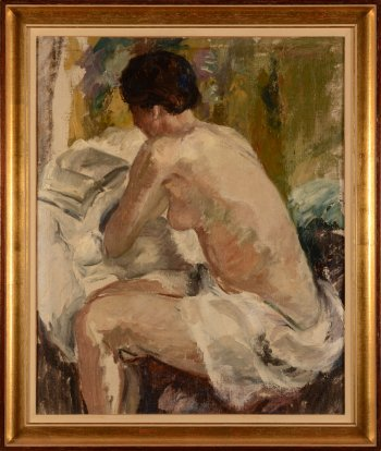 Unknown master Sitting nude