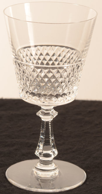 ​Val Saint-Lambert model Heidelberg taille diamant wine glass