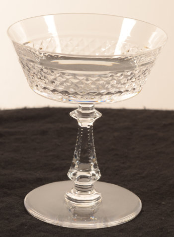 ​Val Saint-Lambert, model Heidelberg taille diamant champagne coupe