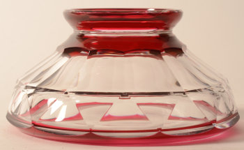 Val Saint-Lambert cut crystal art deco vase