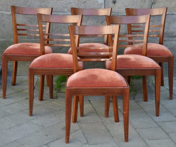 Charles van Beerleire 6 art deco chairs