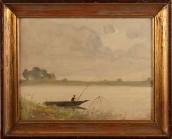 Jan Van Beers landscape with river