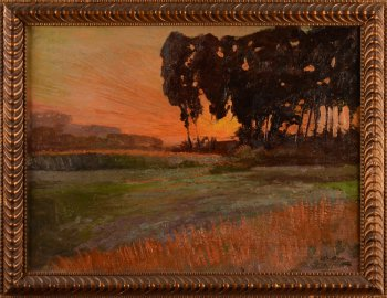 Emile Van Damme sunset 1921