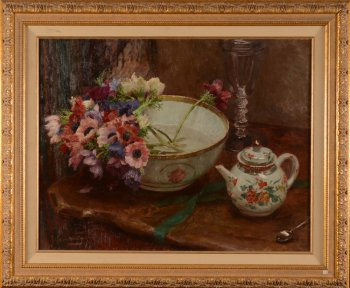Jef Van De Fackere still life with anemones