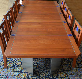 Jos Van Driessche monumental table and chairs