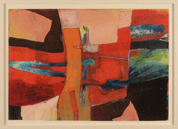 Paul Van Gysegem abstract composition 1965