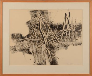 Paul Van Gysegem monotype-drawing 1966