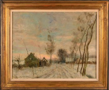 Gustave Van Loon snowscape