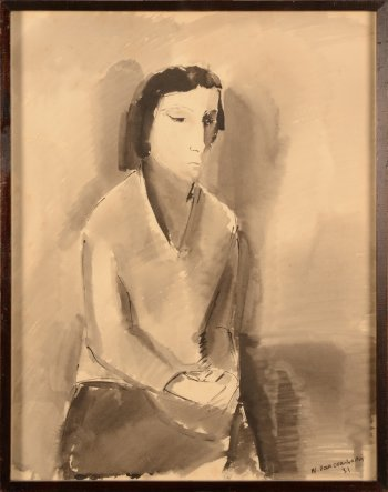 War Van Overstraten sitting woman 1931