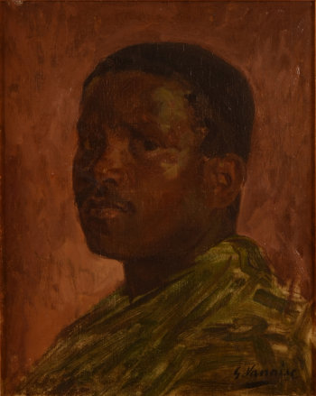 Gustave Vanaise Portrait of a black man