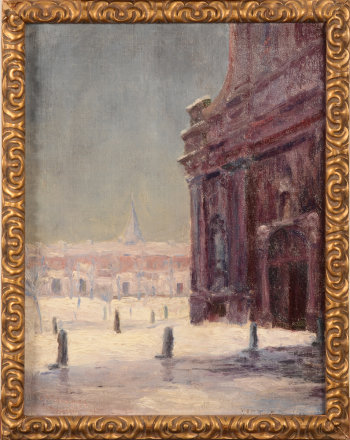 G. Verbrugge The Elisabeth Begijnhof in Gent in the snow