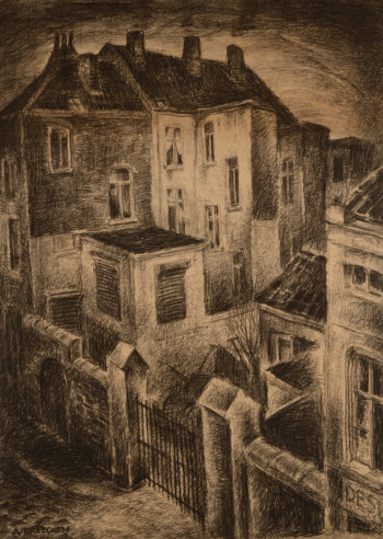 Achiel Vereecken Houses in Gent drawing