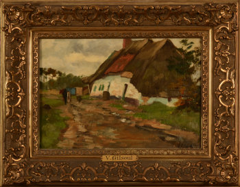 Victor Gilsoul farm with thatched roof