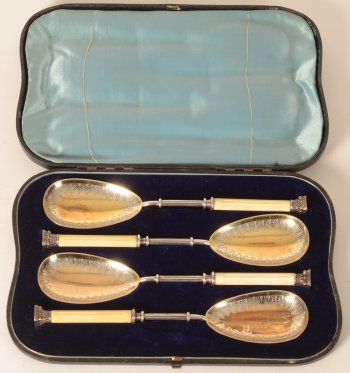 Martin Hall and Company Victorian electroplated spoons