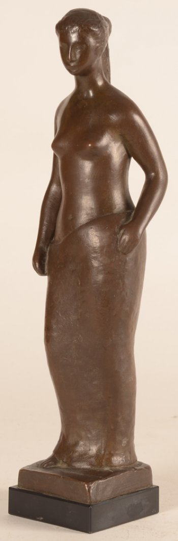 George Vindevogel standing woman bronze