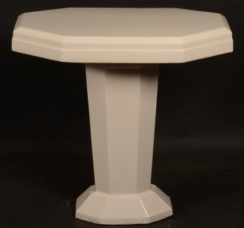 White ceramic art deco table
