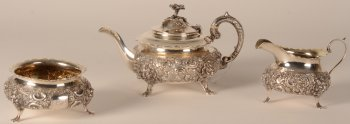 John Williams & Co silver tea service