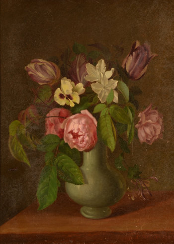 Williamson D. flower still life 19th century