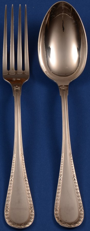 Wolfers 219 Louis XVI Laurier Fork and Spoon