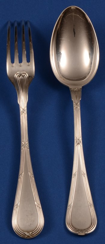 Wolfers 219 L XVI Laurier fork 176 and spoon