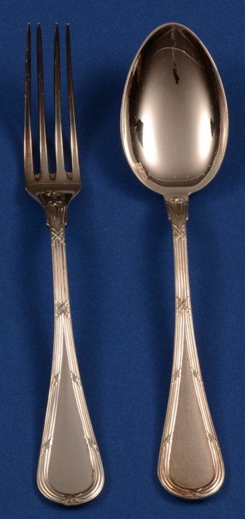 Wolfers 223 Filets Rubans small Fork and Spoon