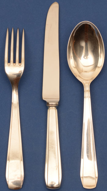 Wolfers Frères Chambord silver cutlery set