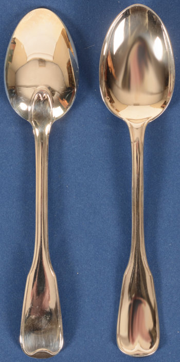 Wolfers Frères silver tea spoons 224 Filets Anciens