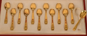 Philippe Wolfers silver gilt Gioconda spoons
