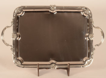 Wolfers Frères silver L XIV tray