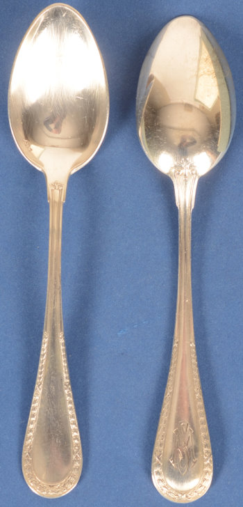Wolfers Freres 219 L XVI laurier coffee spoons