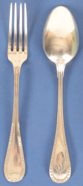 Wolfers Freres 219 L XVI laurier forks and spoons
