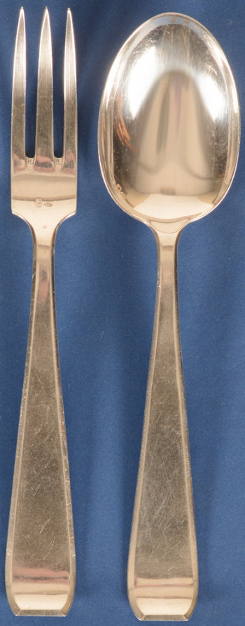 Wolfers Frères model 233 Mona Lisa 12 silver forks and 12 spoons