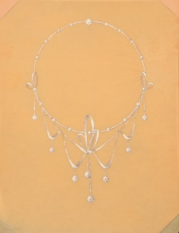 Philippe Wolfers drawing necklace