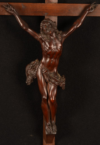 Wooden Christ on the cross